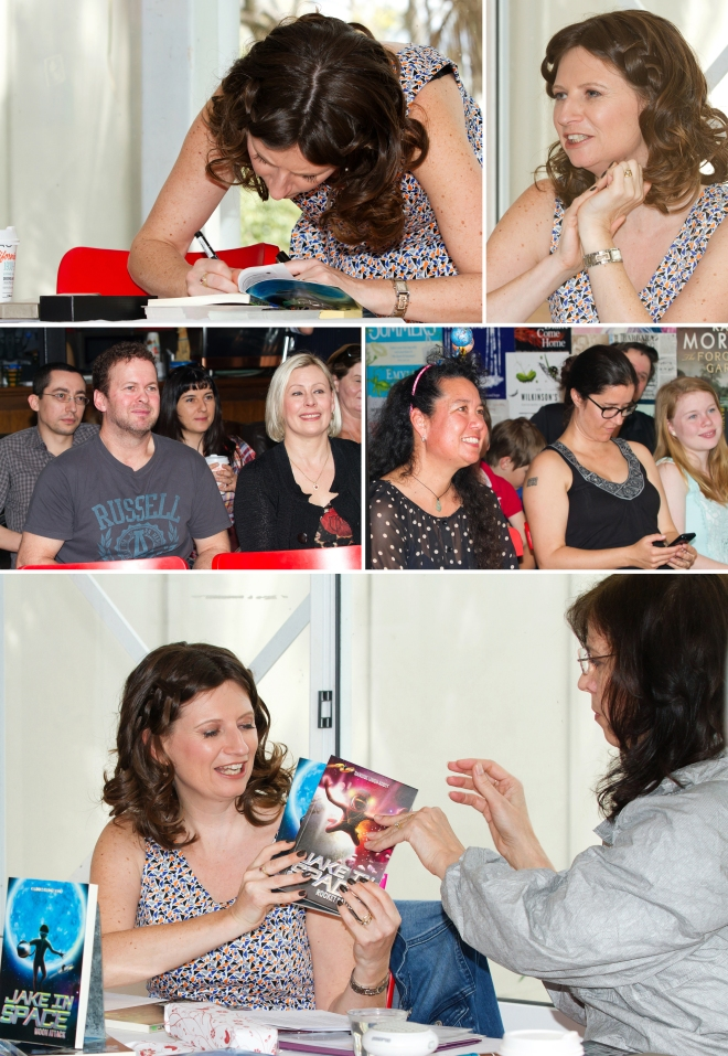 More book chit-chat, signings and celebrating with family and friends.