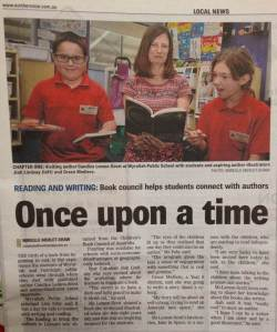 Northern Star - on CBCA (NSW) author visit