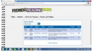 SA Premier's Reading Challenge